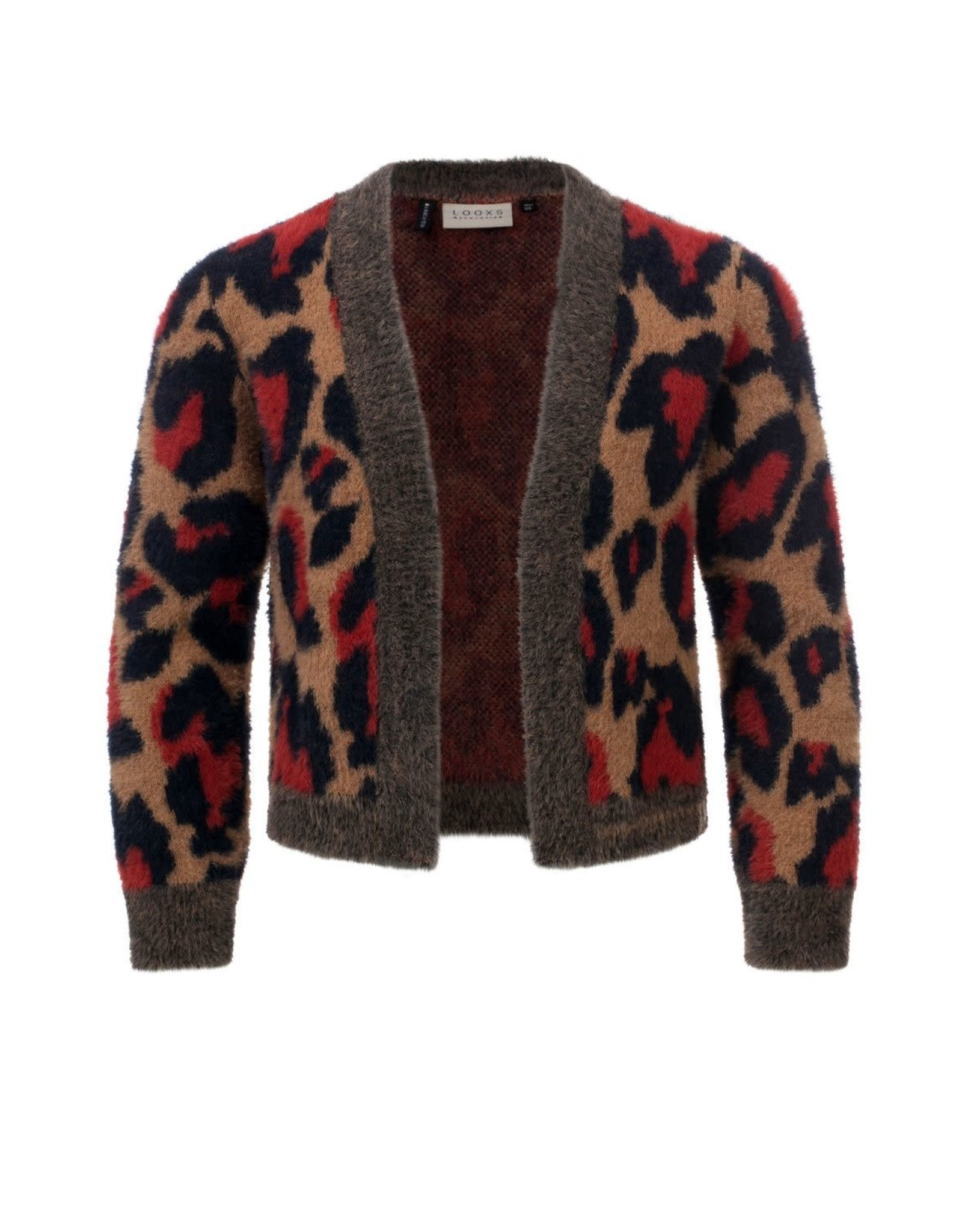 Looxs Girls knitted cardigan Camel