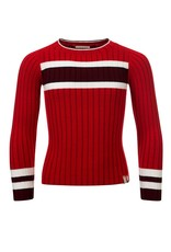 Looxs Girls knitted top Scarlet red