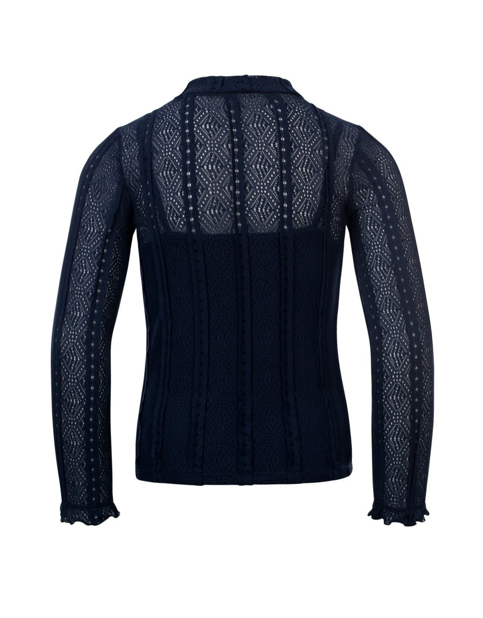 Looxs Girls lace top Midnight