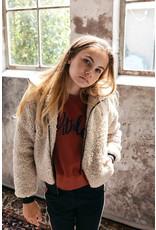 Looxs Girls Sweater Garment dye Mahony