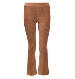 Looxs Girls velvet rib flare pants Camel