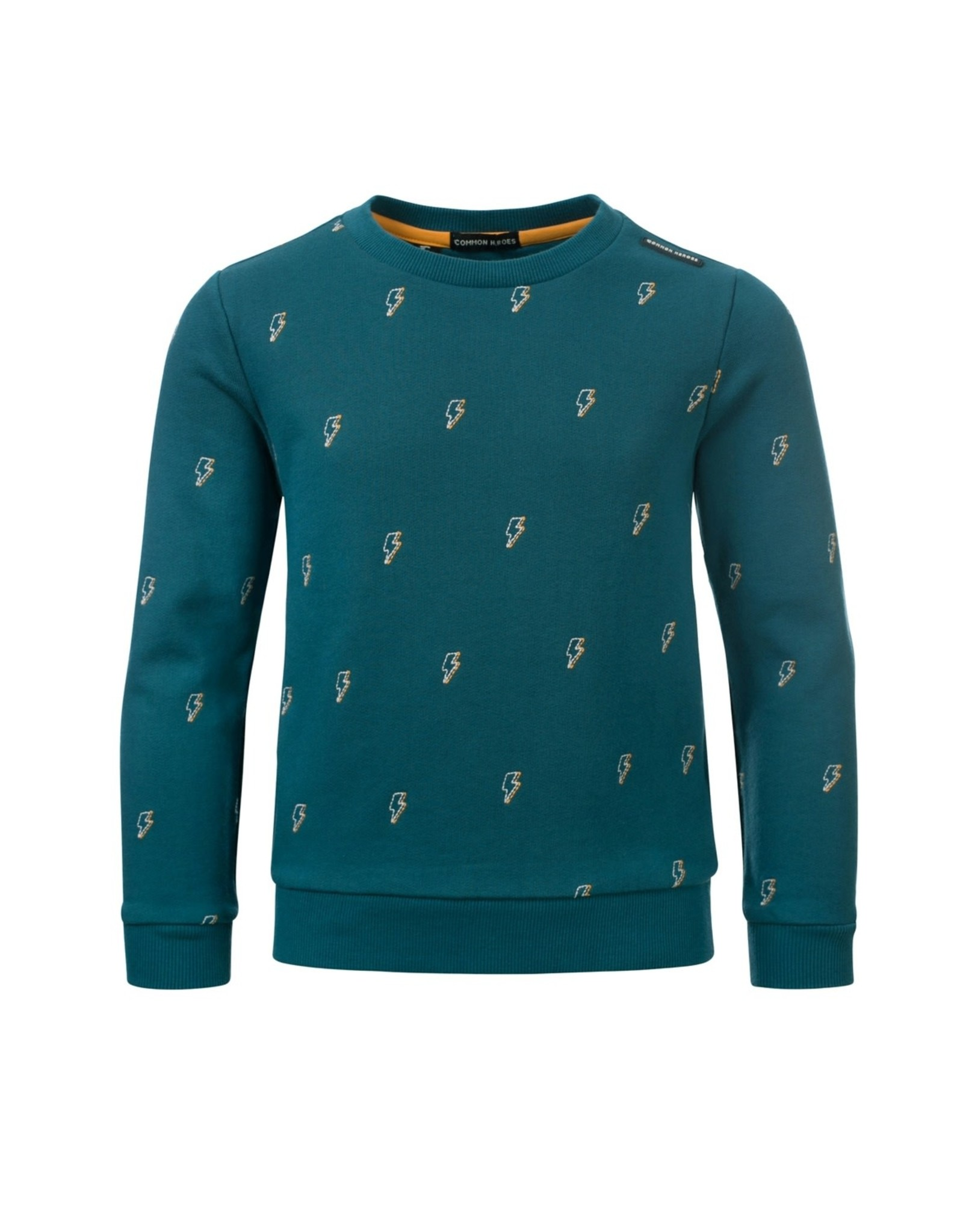 Common Heroes CAS crewneck interlock sweat Petrol