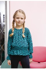 B-nosy Girls flame aop blouse with smocked waist 342 Fanfare flame