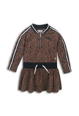 Koko Noko Dress Brown aop