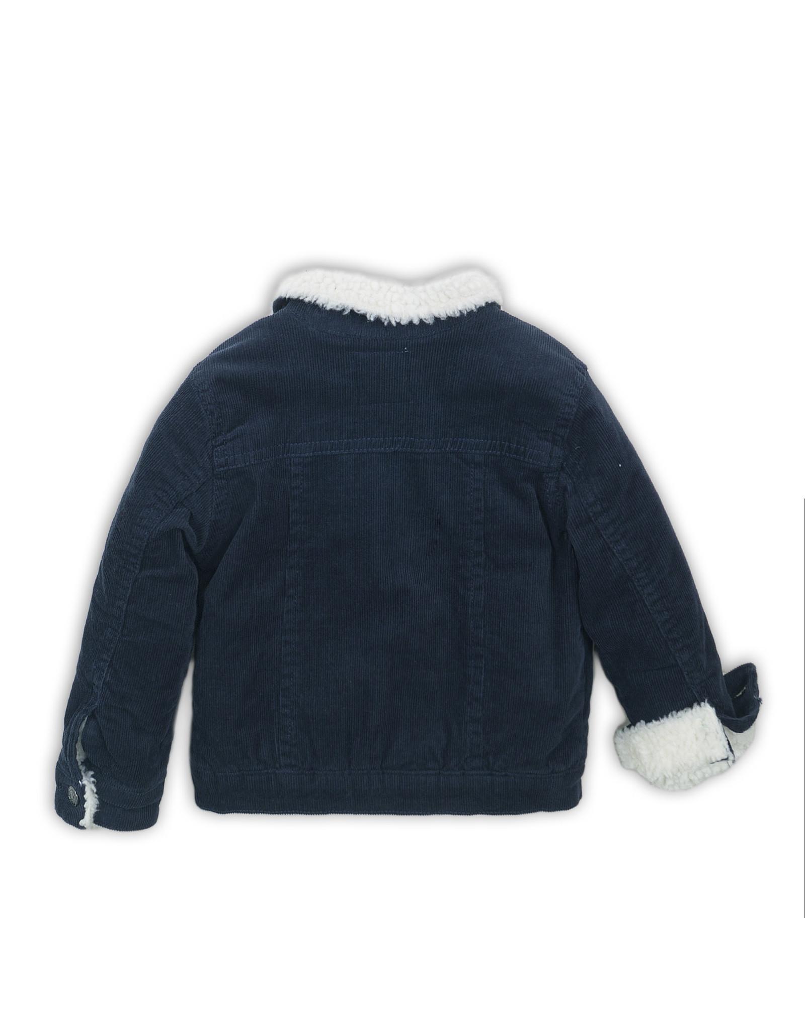 Koko Noko Jacket Navy Teddy