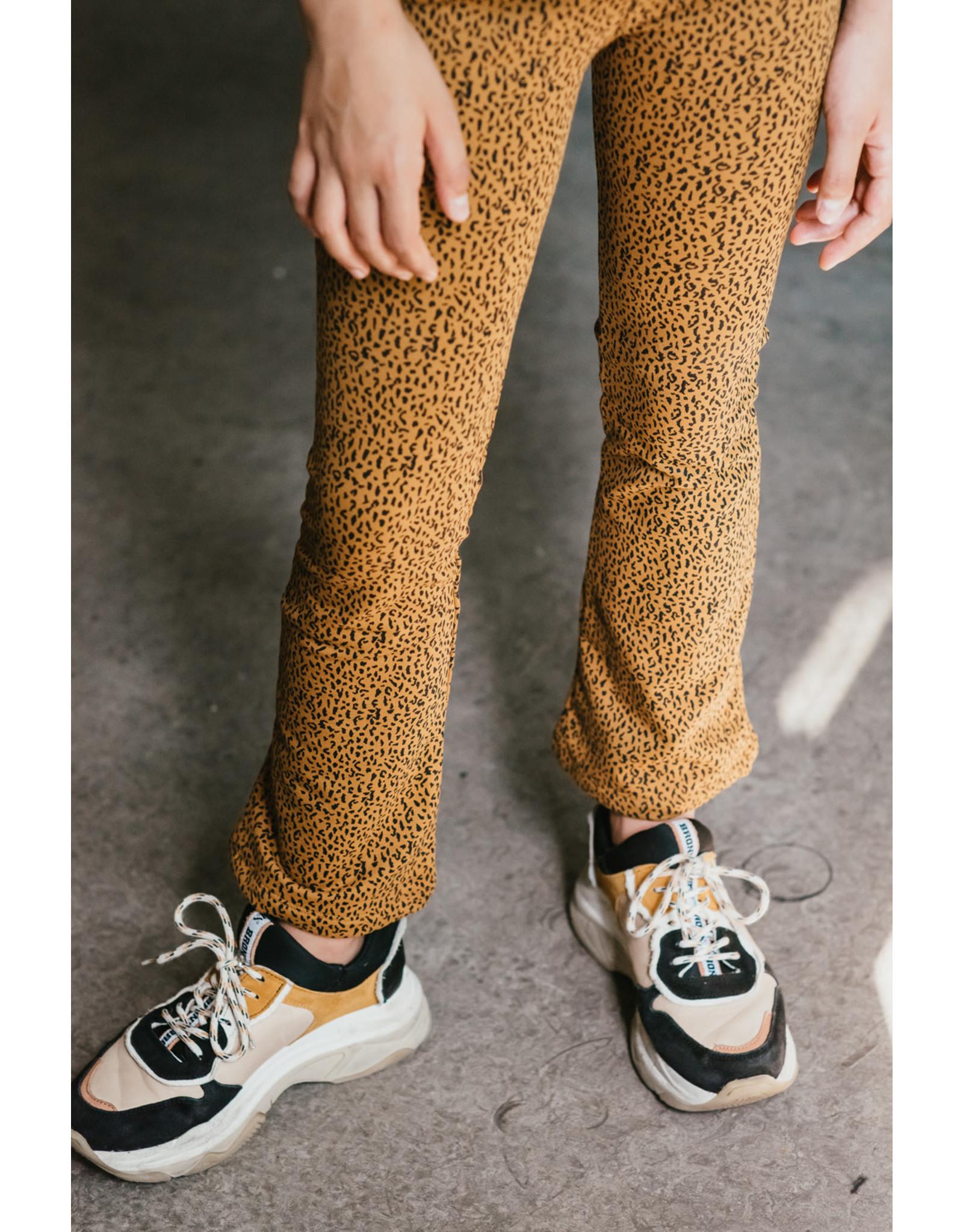 Topitm Annemoon pant AOP Leopard brown
