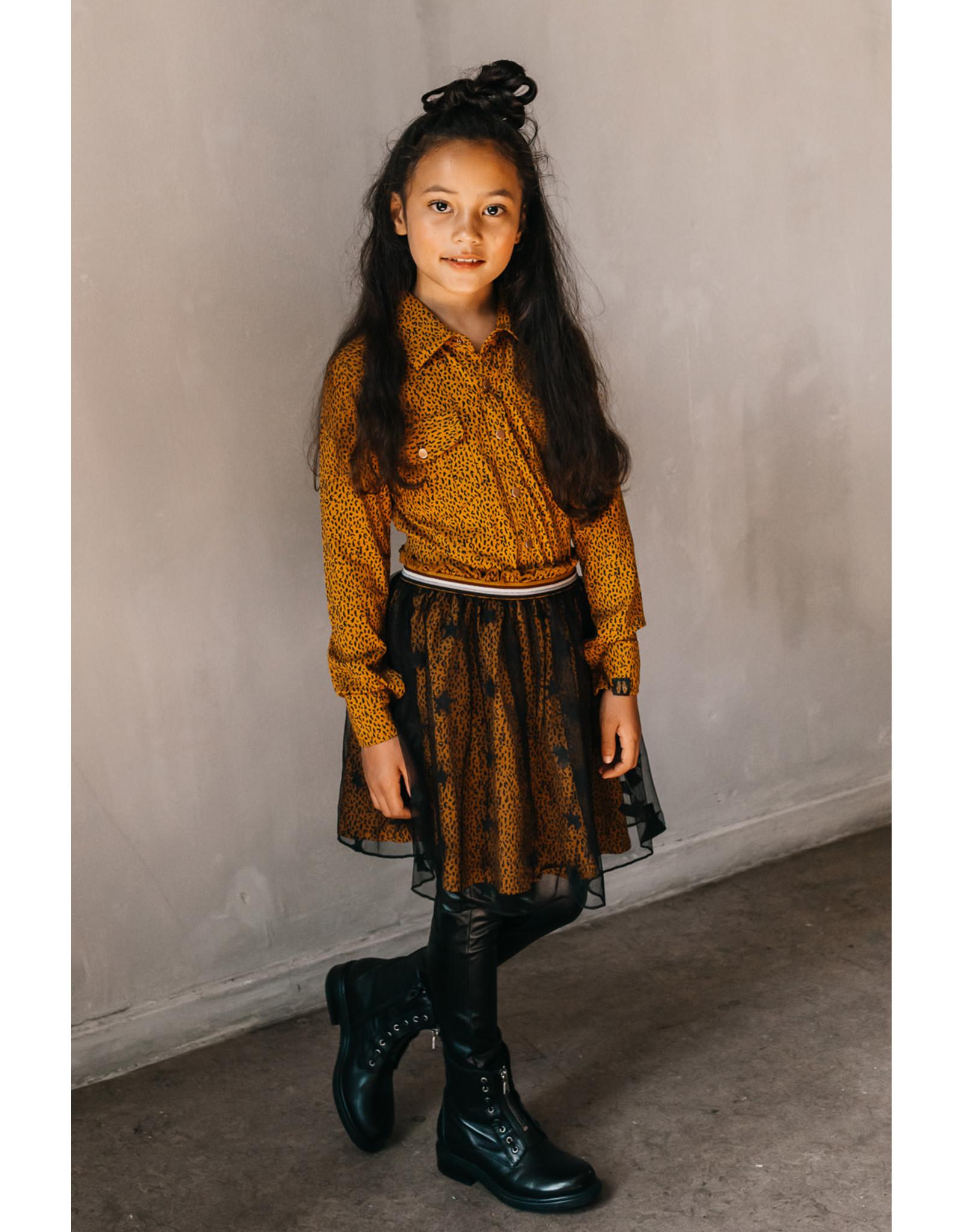 Topitm Lola blouse AOP Leopard brown