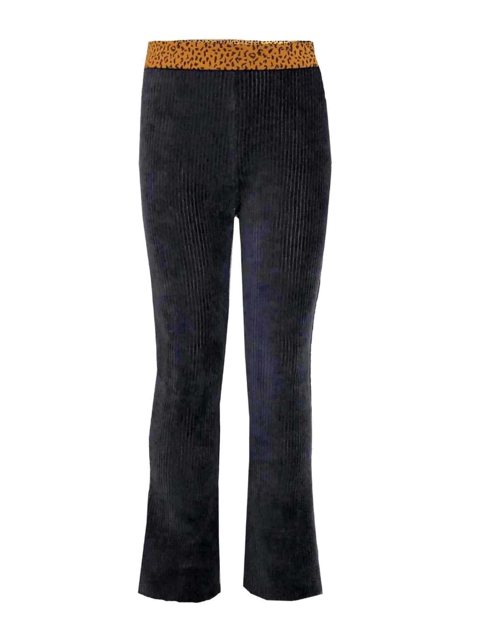 Topitm Annebelle Flare pant RIB nearly black