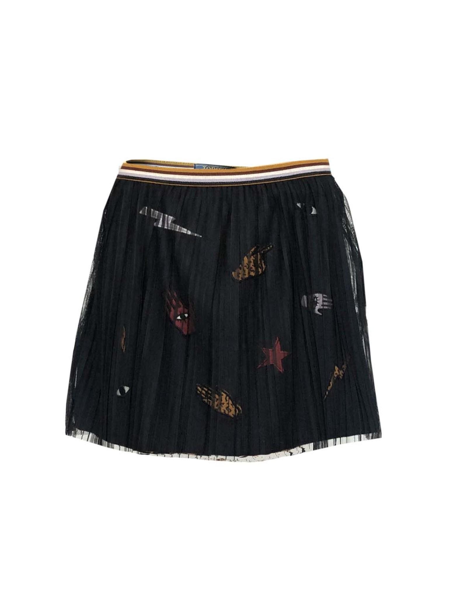 Topitm Bobby Skirt mesh Nearly black/badges