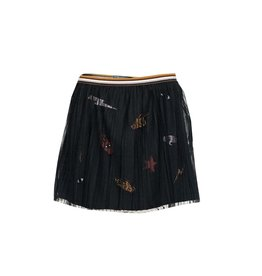 Topitm Bobby Skirt mesh Nearly black/badges