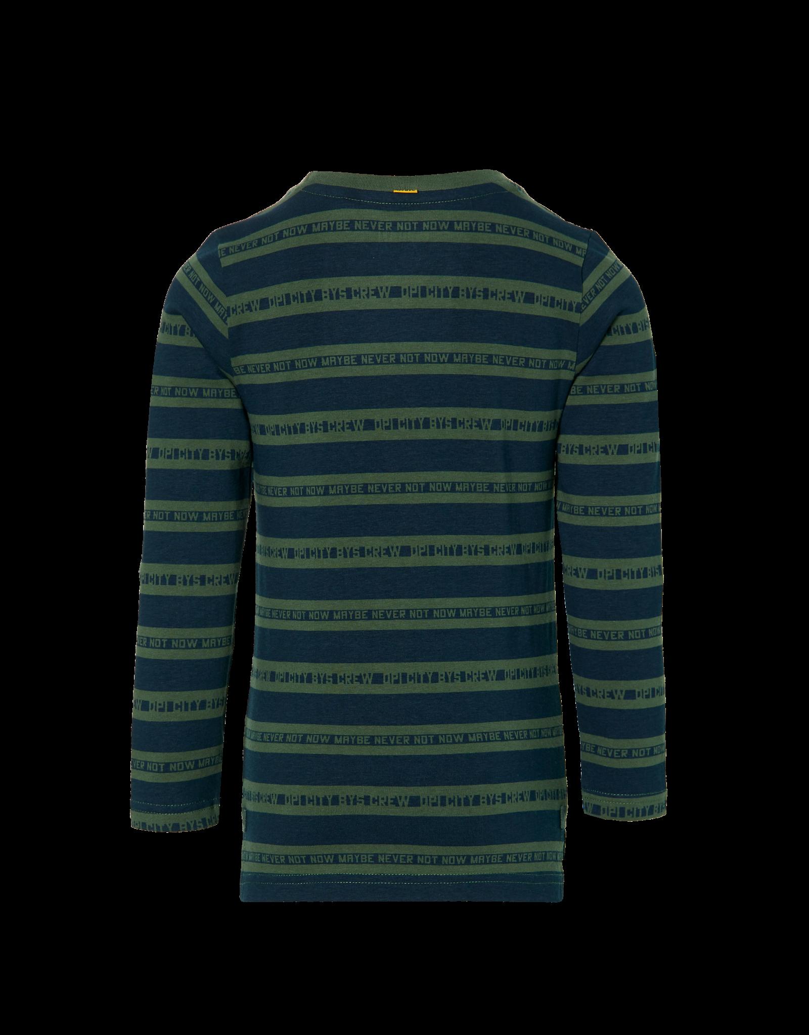 Quapi DAWID W202 Dark Green Text Stripe