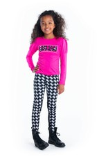 B-nosy Girls puzzle jaquard pants with solid backside 051 Maxi
