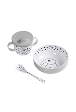 Done by Deer First meal set Happy dots Grey