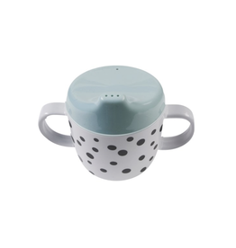 Done by Deer 2-handle  spout cup Happy dots Blue
