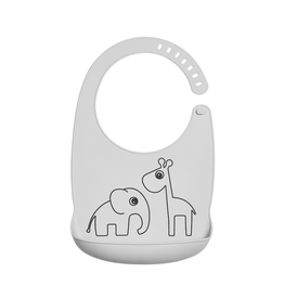 Done by Deer Silicone bib Deer friends grey