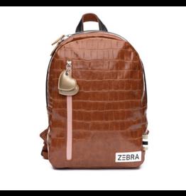 Zebra Rugzak Croco Camel & Gold (M)