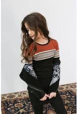 Looxs Girls dress Black stripe