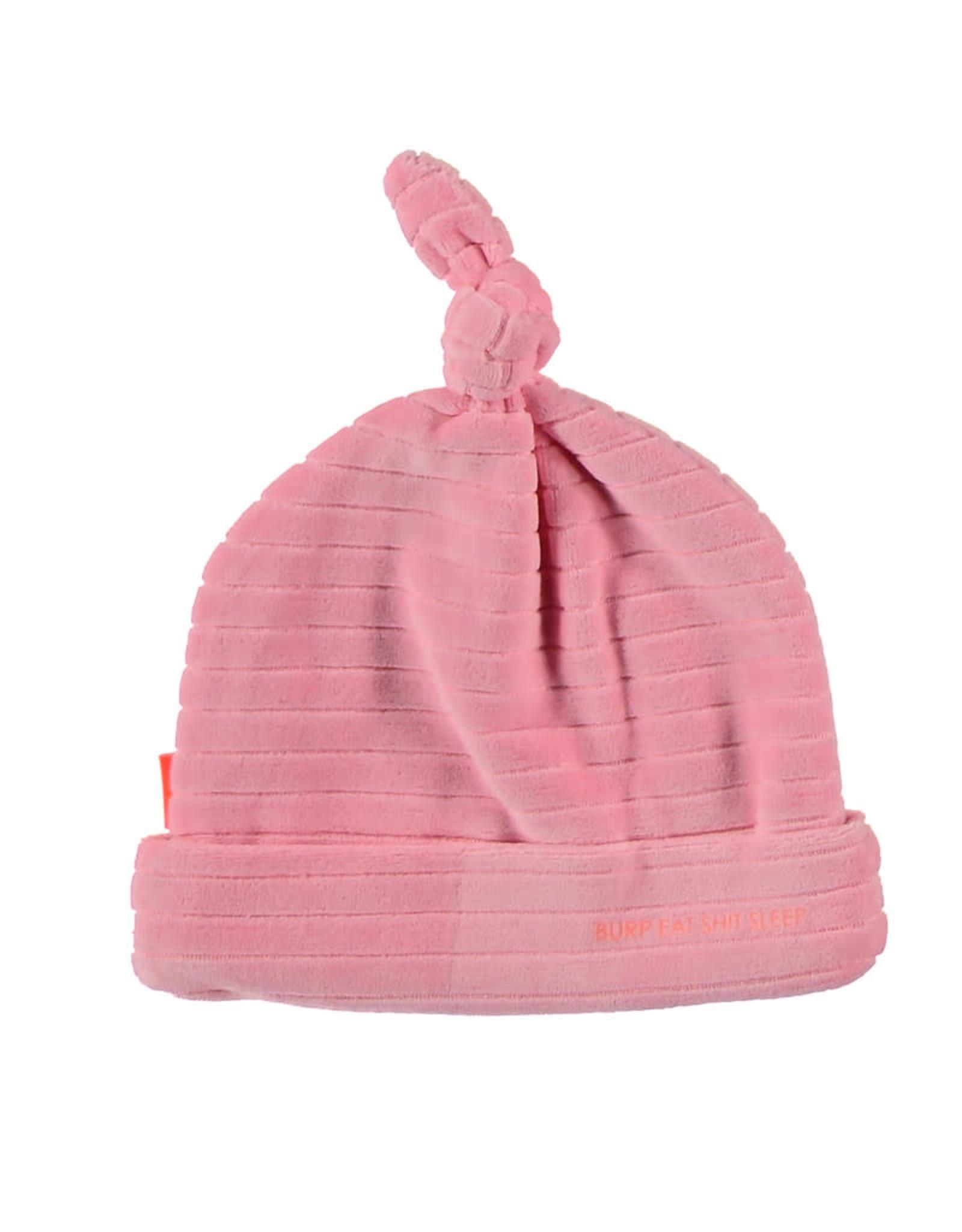 BESS Hat Velvet Striped Pink