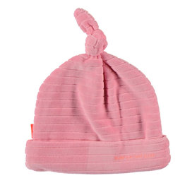BESS Hat Velvet Striped Pink
