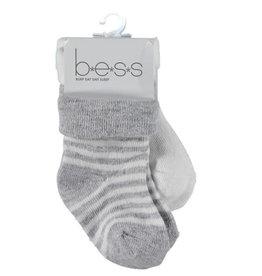 BESS Bess sokken pinstripe white NOS