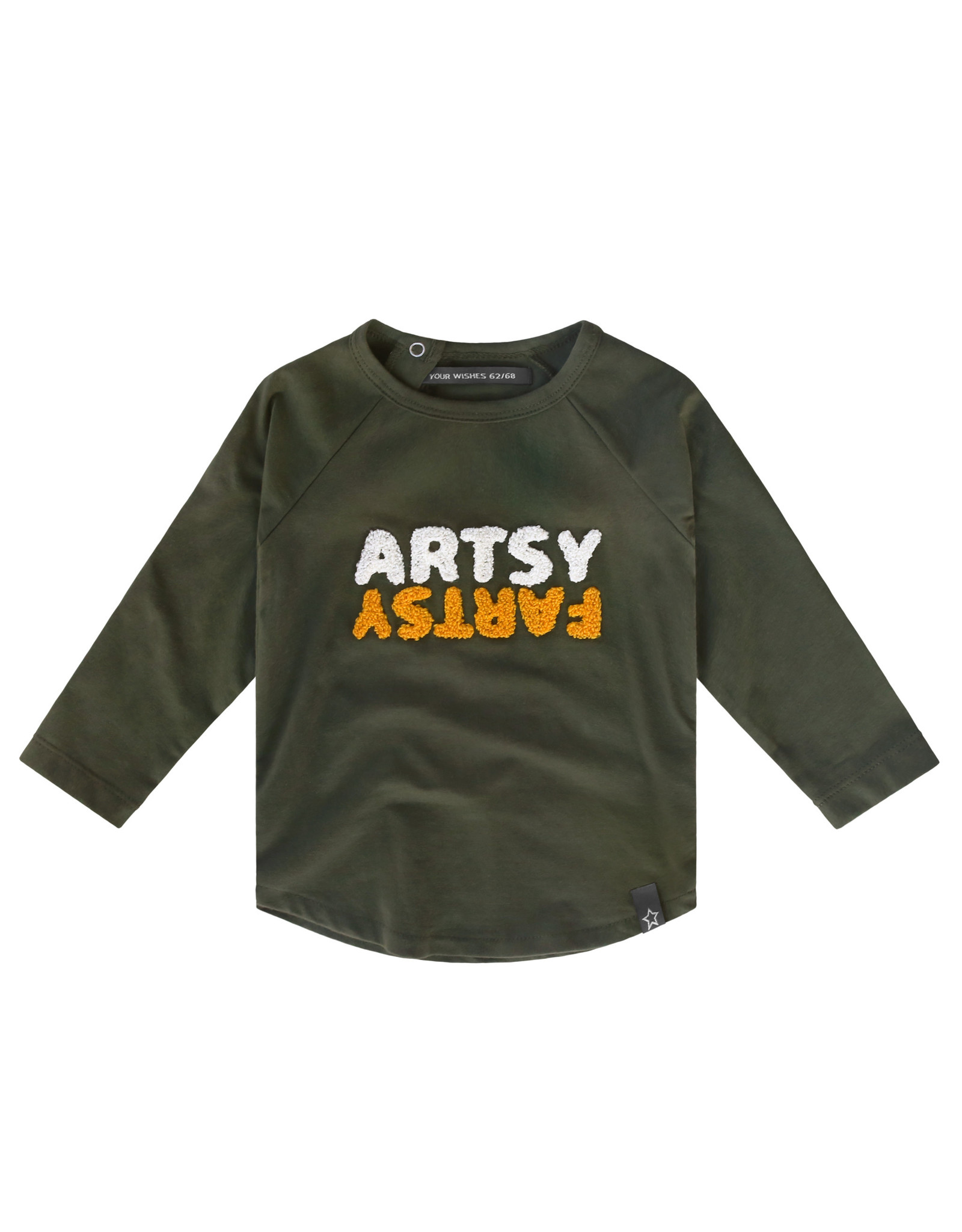 Your Wishes Artsy Fartsy | Raglan Longsleeve Desk green