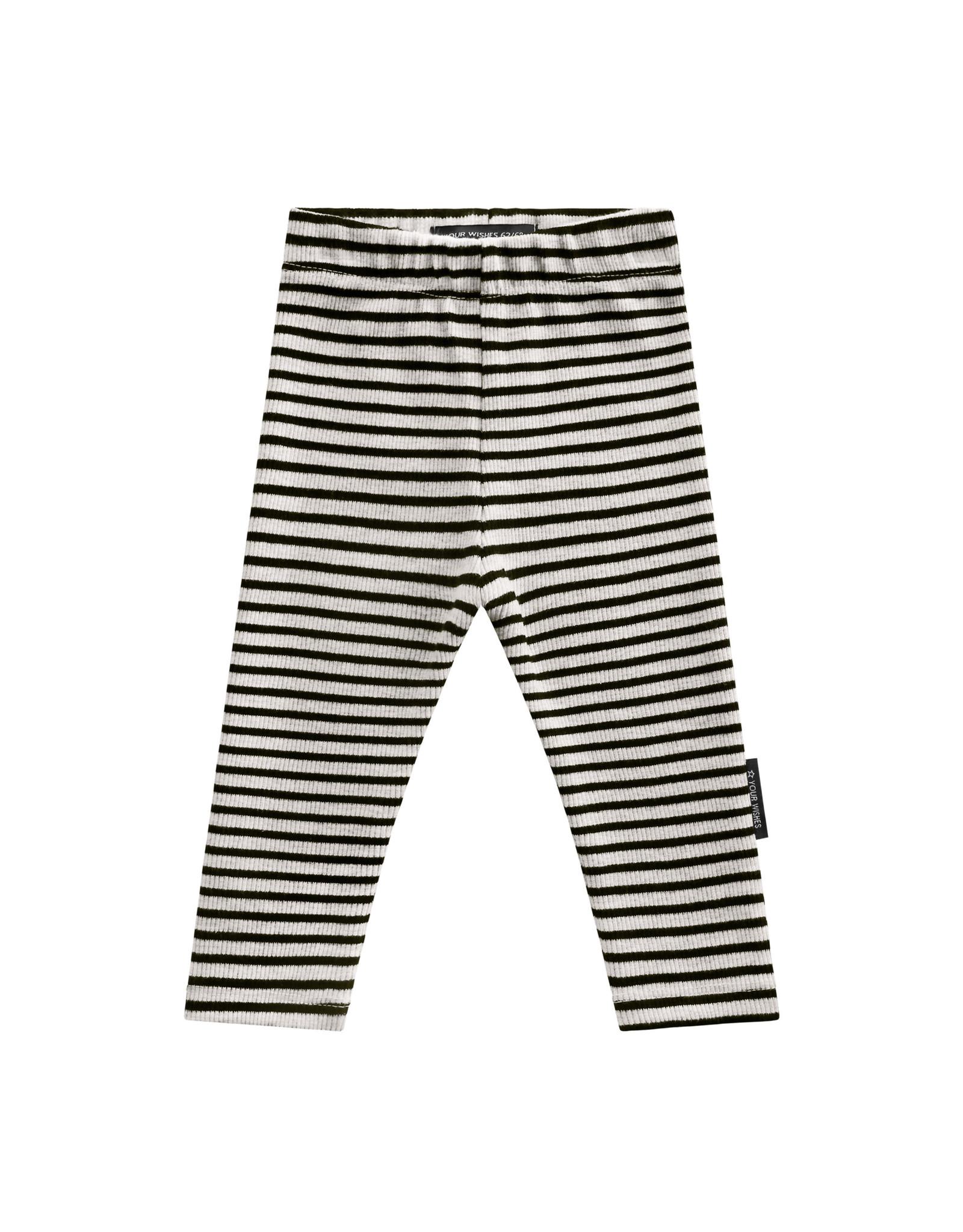 Your Wishes Beige - Stripes | Legging Chalk