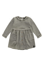 Your Wishes Beige - Stripes | Button Dress Chalk