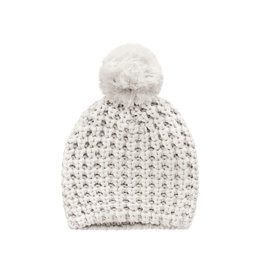 Your Wishes Knit | Pompom Hat Chalk