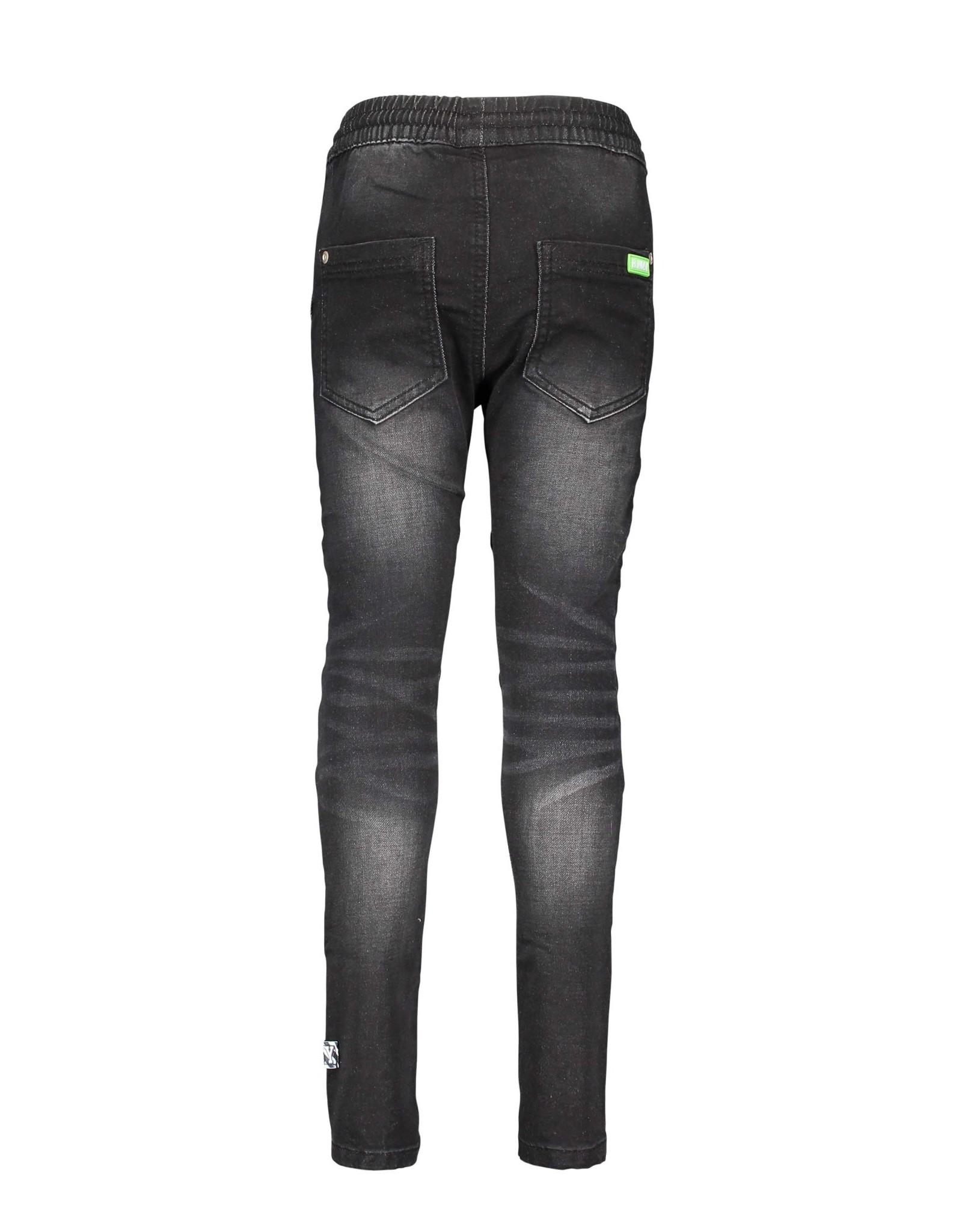 B-nosy Boys jog denim pants with smocked wb Black denim