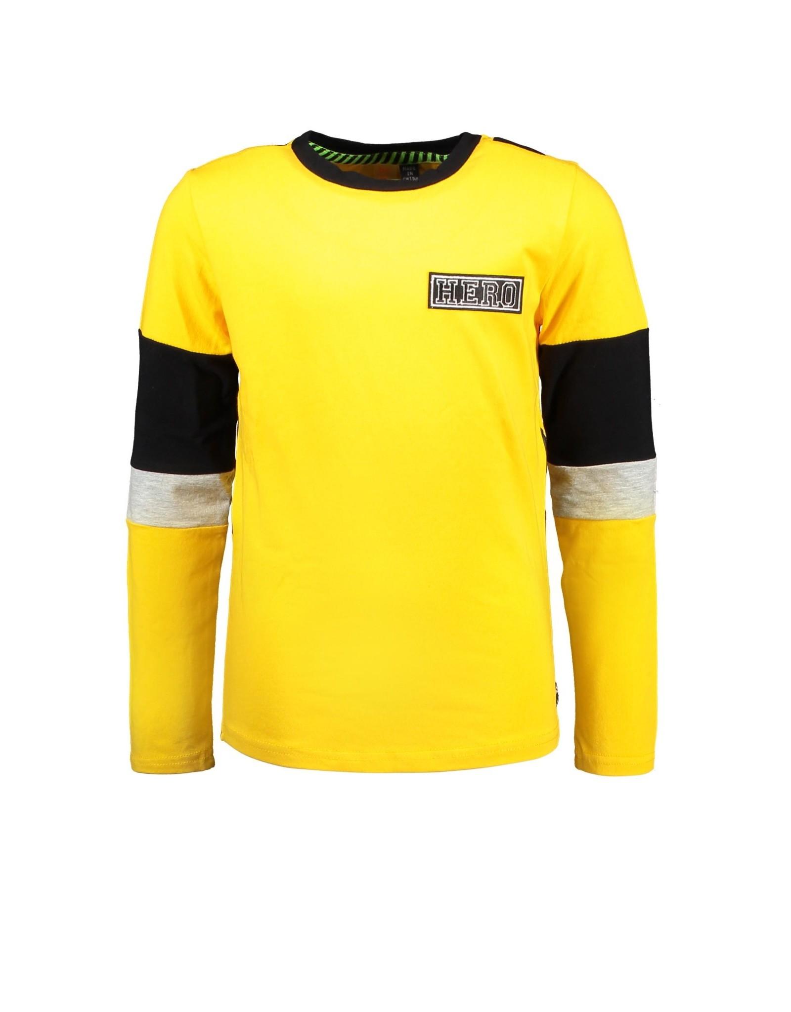 B-nosy Boys t-shirt with slanted striped backside 555 Lemon chrome