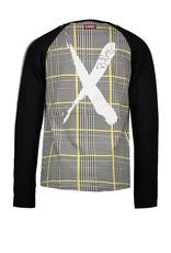 B-nosy Boys extra long raglan t-shirt with cross aop body 013 Hero check white