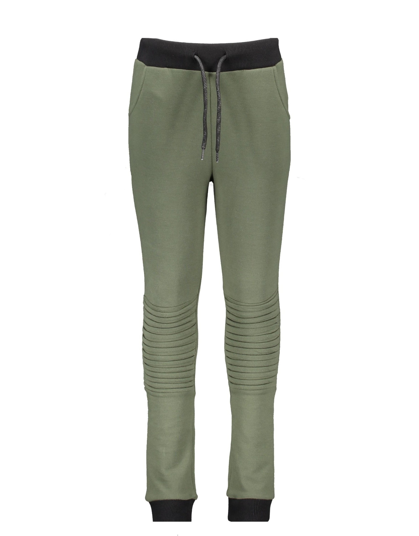 B-nosy Boys sweat pants with folded knee detail and printed zipper 351Army green
