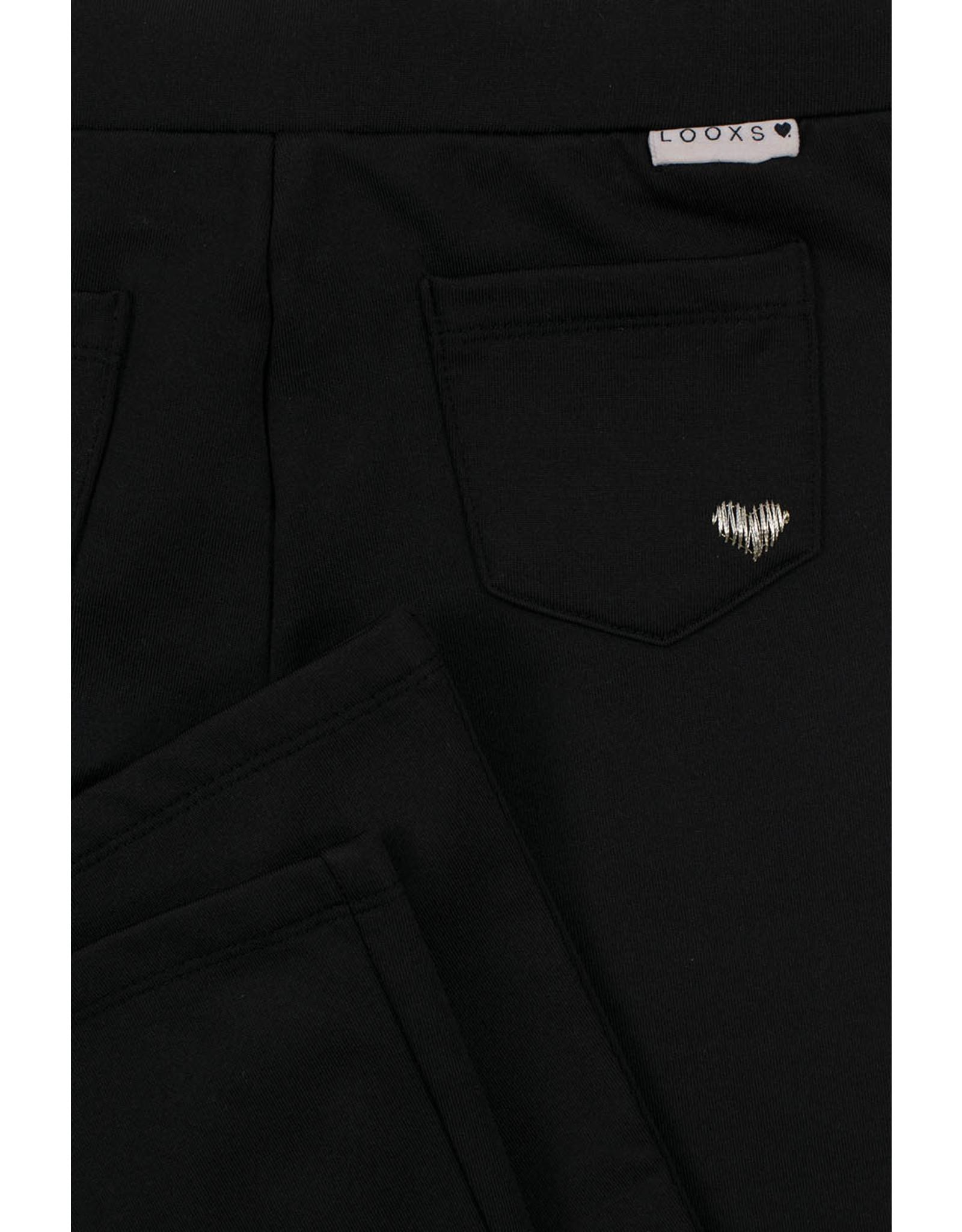 Looxs Little sweat flair pants zwart