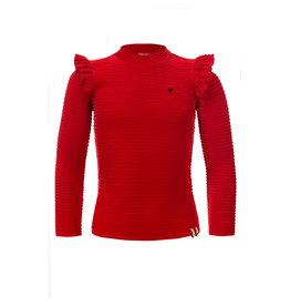 Looxs Little velvet pullover rood