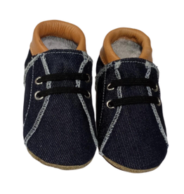 Baby Dutch Babyslofje Denim met Cognac