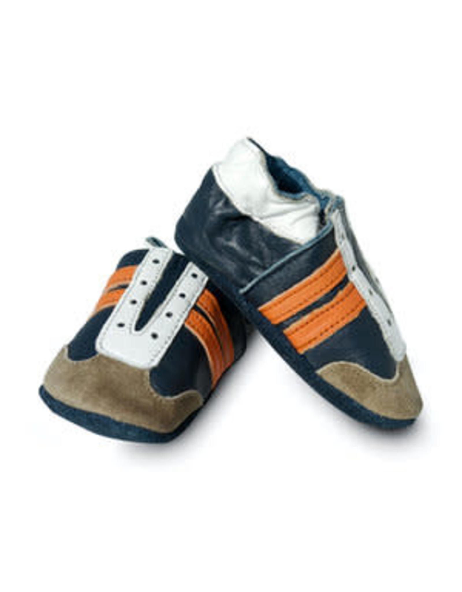 Baby Dutch Babyslofje Jogger blauw/oranje