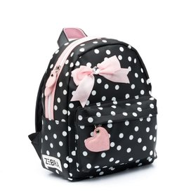Zebra Rugzak Girls (S) Dots black