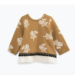 IKKS SWEATER SHIRT 69 Ocre / écru MINI
