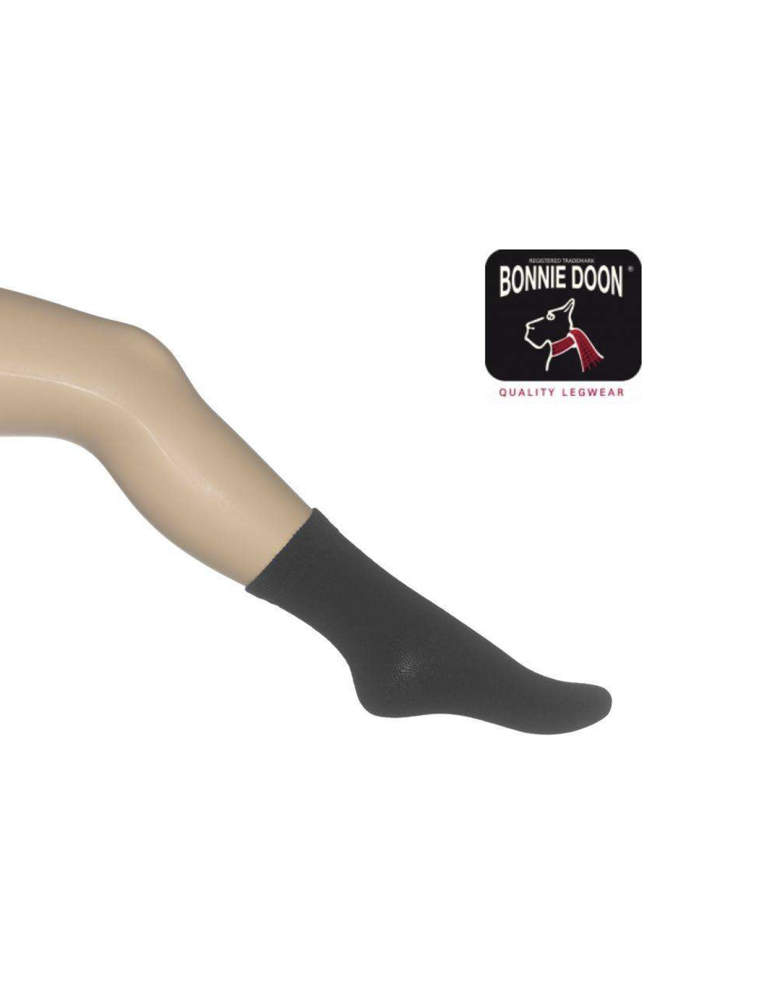 Bonnie Doon Coton Sock Black