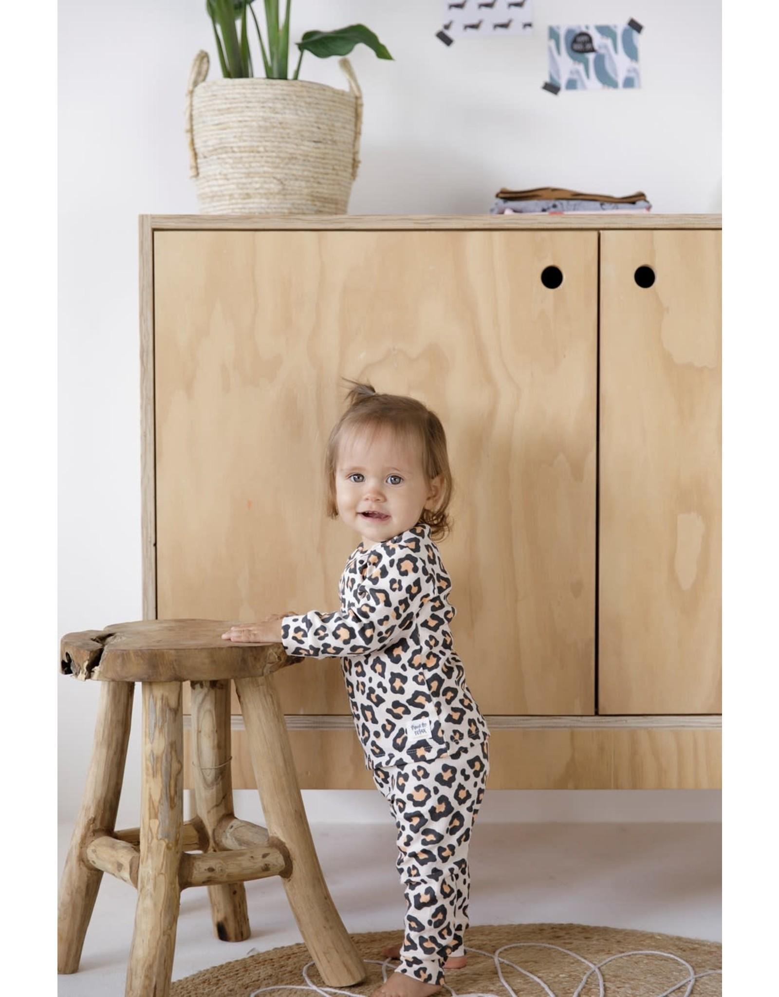 Feetje Leopard Lou Perzik
