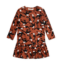 Your Wishes Toucans | Shift Dress Potters Clay NOS