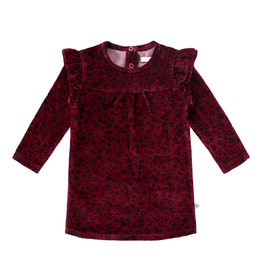 Your Wishes Panther/Ruffle dress Plum