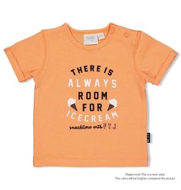 Feetje T-shirt Always - Team Icecream Neon Oranje
