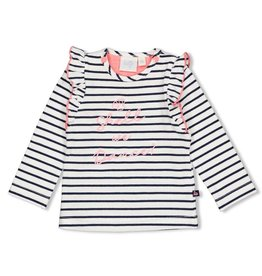 Feetje Longsleeve streep - Seaside Kisses Wit