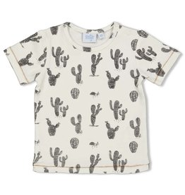 Feetje T-shirt AOP - Looking Sharp Offwhite