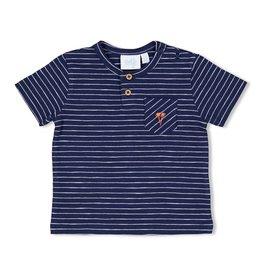 Feetje T-shirt streep - Here Comes The Fun Marine