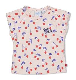 Feetje T-shirt AOP - Cherry Sweetness Roze
