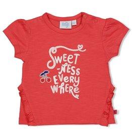 Feetje T-shirt Everywhere - Cherry Sweetness Rood