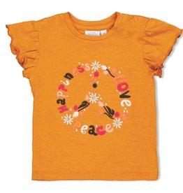 Feetje T-shirt Peace - Whoopsie Daisy Okergeel
