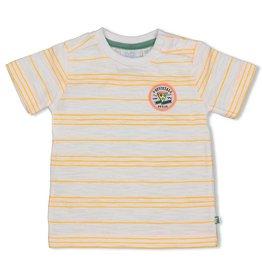 Feetje T-shirt streep - Snacktime Wit